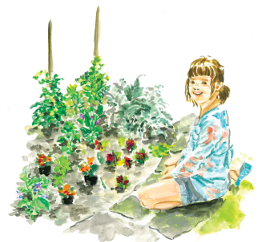 Picture of girl in garden